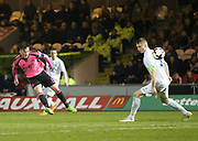 Scotland's Liam Henderson    fires in a shot  - Scotland under 21s v Estonia international challenge match at St Mirren Park, St Mirren. Pic David Young<br />  <br /> - © David Young - www.davidyoungphoto.co.uk - email: davidyoungphoto@gmail.com