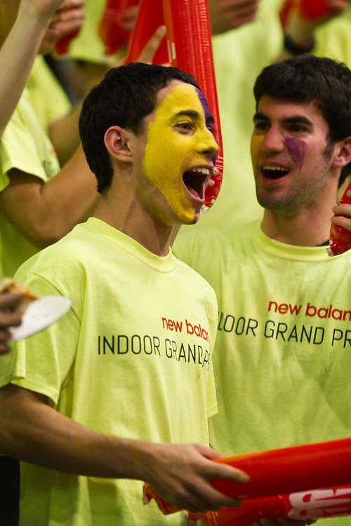 New Balance Indoor Grand Prix track meet: Fans cheering