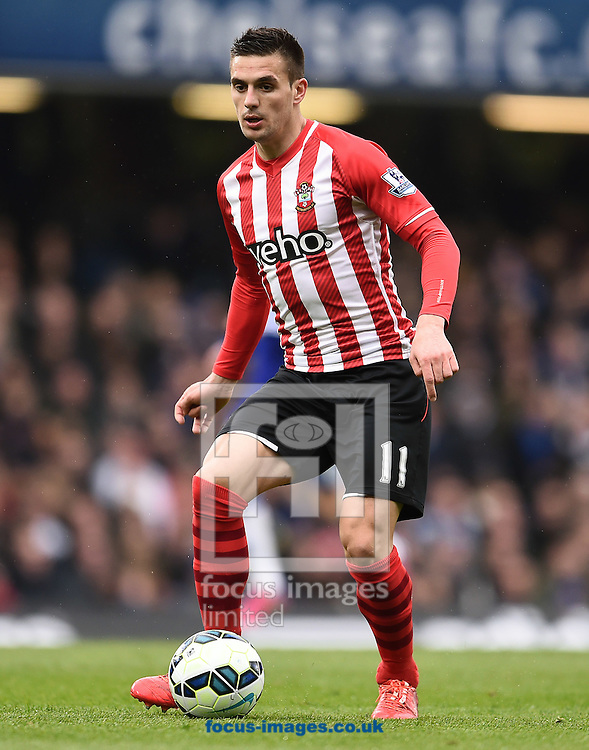 Dusan Tadic of Southampton during the Barclays Premier League match against Chelsea at Stamford Bridge, London<br /> Picture by Andrew Timms/Focus Images Ltd +44 7917 236526<br /> 15/03/2015