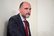 2013/05/31 Roma, conferenza stampa a margine del Consiglio dei Ministri. Nella foto Gianmarco Trevisi.<br /> Rome, Cabinet Meeting press conference. In the picture Gianmarco Trevisi - &copy; PIERPAOLO SCAVUZZO