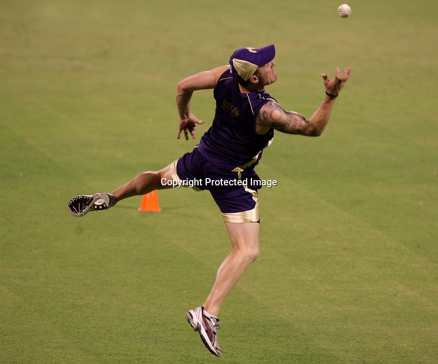 Kolkata Knight Riders player B McCullum Taken A Catch Duirng The Net Session on 04-06-2010 at-kolkata