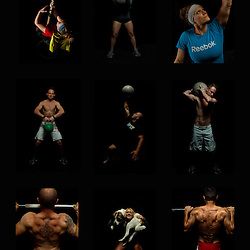 A poster of Crossfit images, pictures, photos, photography of health, elite, exercise, training, workouts, atlas stone, kettlebell, turkish getup, rope climb, pullup, squat, WODs, taken at Progressive Fitness CrossFit,Colorado Springs, Colorado, USA.