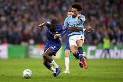 Chelsea's Antonio Rudiger (left) and Manchester City's Leroy Sane battle for the ball
