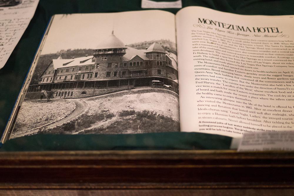 Display Case. Historic Montezuma Hotel. Las Vegas, New Mexico.