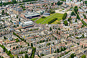 Nederland, Noord-Holland, Amsterdam, 29-06-2018; Amsterdam-Zuid, Museumkwartier, Museumplein.<br /> Southern part of Amsterdam.<br /> <br /> luchtfoto (toeslag op standard tarieven);<br /> aerial photo (additional fee required);<br /> copyright foto/photo Siebe Swart