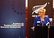 MC Rachel Dacy, Press conference to announce Auckland, New Zealand as the host city for the 2017 World Masters Games. Auckland Town Hall Councillors Chambers, Auckland. 15 March 2012. Photo: William Booth/photosport.co.nz