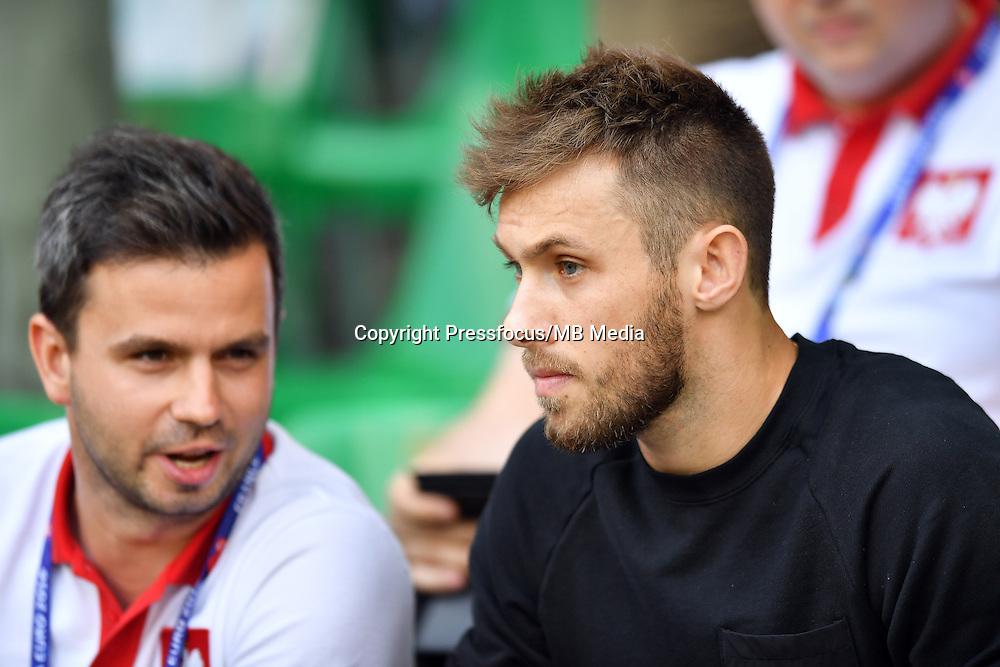 2016.06.25 Saint-Etienne<br /> Pilka nozna Euro 2016<br /> mecz 1/8 finalu Szwajcaria - Polska<br /> N/z Maciej Rybus<br /> Foto Lukasz Laskowski / PressFocus<br /> <br /> 2016.06.25<br /> Football UEFA Euro 2016 <br /> Round of 16 game between Switzerland and Poland<br /> Maciej Rybus<br /> Credit: Lukasz Laskowski / PressFocus