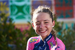 Best young rider, Chiara Consonni (ITA) backstage at Ladies Tour of Norway 2018 Stage 1, a 127.7 km road race from Rakkestad to Mysen, Norway on August 17, 2018. Photo by Sean Robinson/velofocus.com