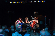 Honesdale, Pennsylvania - The Weekend of Chamber Music summer music festival concluded with a concert at the Cooperage on July 26, 2015.   Performers were soprano Lindsay Kesselman, Nurit Pacht on violin,  Caroline Stinson on cello and Tannis Gibson on piano.