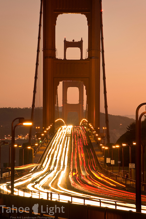 Golden Gate Bridge as seen from the Marin Headlands in San Francisco, CA