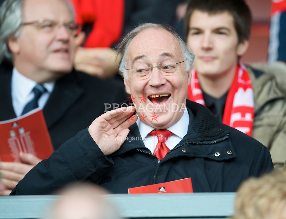 LIVERPOOL, ENGLAND - Sunday, March 22, 2009: Former leader of the Conservative Party, Michael Howard, in the Main Stand for the Premiership match between Liverpool and Aston Villa at Anfield. (Photo by David Rawcliffe/Propaganda)