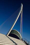 Agora, L´Assut d´Or bridge detail, City of sciences and arts, Valencia, Spain,Europe