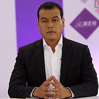 Toluca, México (Mayo 09, 2017).- Juan Zepeda, Candidato del PRD a la gubernatura del Edo Mex, durante el segundo debate en las instalaciones del IEEM. Agencia MVT / Especial IEEM.