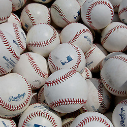 March 15, 2012; Fort Myers, FL, USA; A detail of baseballs used for batting practice before a spring training game between the Boston Red Sox and the St. Louis Cardinals at Jet Blue Park. Mandatory Credit: Derick E. Hingle-US PRESSWIRE