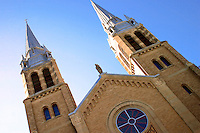 Twin spires of Holy Rosary Cathedral, 13th Avenue, Regina Saskatchewan
