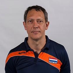 07-06-2016 NED: Jeugd Oranje jongens <1999, Arnhem<br /> Photoshoot met de jongens uit jeugd Oranje die na 1 januari 1999 geboren zijn / Ass. coach Claudio Gewehr