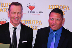 11.01.2014, Ballsaal Berlin Europapark, Rust, GER, 50 Jahre Henry Maske, Roter Teppich zum 50. Geburtstag von Henry Maske, im Bild Virgil Hill (r) and Henry Maske // Virgil Hill (r) and Henry Maske during red carpet to 50th Birthday of Henry Maske at Ballsaal Berlin Europapark in Rust, Germany on 2014/01/11. EXPA Pictures © 2014, PhotoCredit: EXPA/ Photoshot/ Mandoga Media<br /> <br /> *****ATTENTION - for AUT, SLO, CRO, SRB, BIH, MAZ only*****