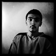 Ice Men Cometh… Dogukan Gonulal, 17, Turkey..An iPhone portrait series on young men competing in the 2012 IIHF Ice Hockey World Championships Division 3. The tournament  was contested by countries New Zealand, Iceland, China, Bulgaria and Turkey at Dunedin Ice Stadium. Dunedin, Otago, New Zealand. 17th January 2012. Photo Tim Clayton