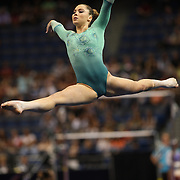McKayla Maroney, Long Beach, California, in action during the Floor Exercise during the Senior Women Competition at The 2013 P&G Gymnastics Championships, USA Gymnastics' National Championships at the XL, Centre, Hartford, Connecticut, USA. 15th August 2013. Photo Tim Clayton