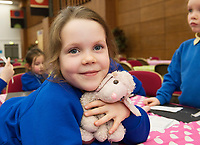 18/01/2018  Aureila Quinn from Oranmore at the Teddy Bear Hospital at NUI Galway . Students get used to dealing with Kids and Kids get a Hospital experience with a difference. Photo:Andrew Downes, XPOSURE