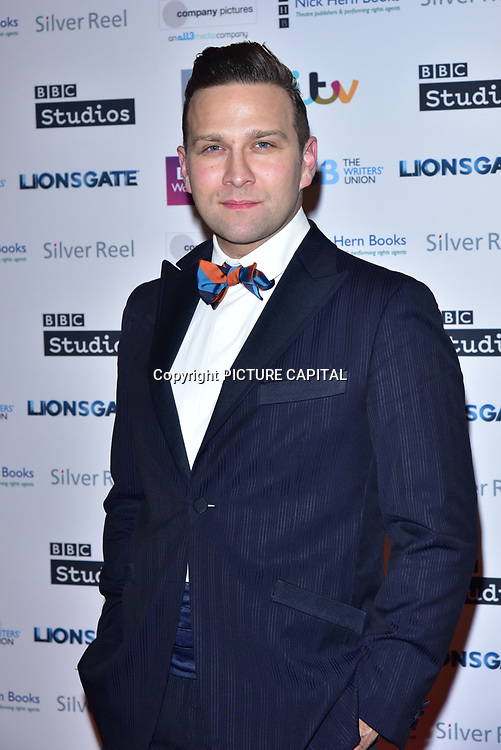 John Finnemore attends The Writers' Guild Awards at Royal College of Physicians on 15th January 2018.