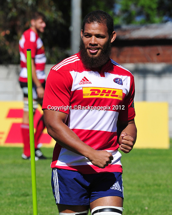 Nizaam Carr of the Stormers during the 2015 Super Rugby training session for the Stormers at Bellville HPC, Cape Town on 12 February 2015 ©Ryan Wilkisky/BackpagePix