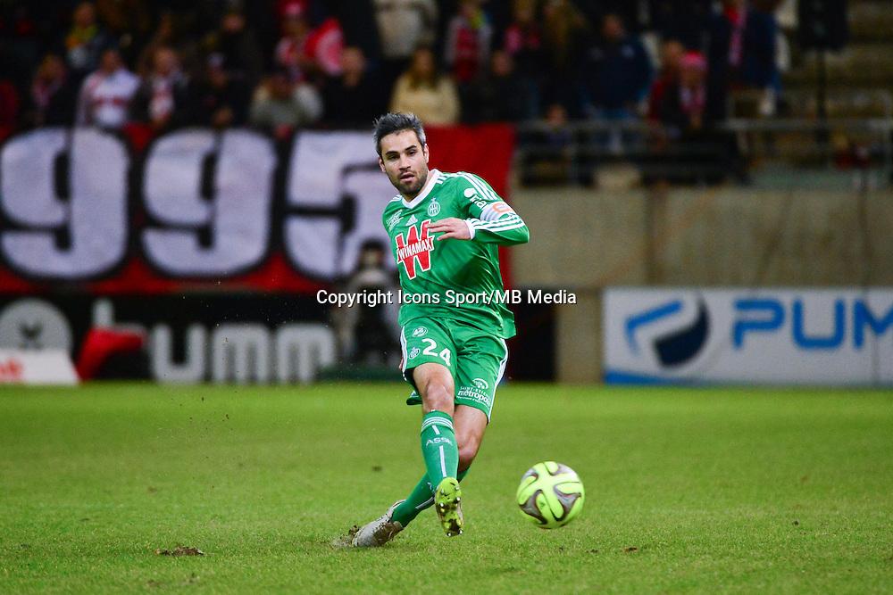 Loic PERRIN  - 10.01.2015 - Reims / Saint Etienne - 20eme journee de Ligue 1<br />Photo : Dave Winter / Icon Sport