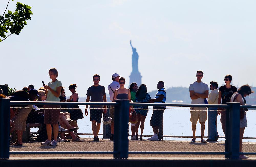 Water Taxi stop near the Brooklyn Bridge.