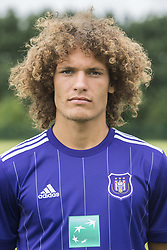 July 11, 2017 - Brussels, BELGIUM - Anderlecht's Wout Faes poses for photographer at the 2017-2018 season photo shoot of Belgian first league soccer team RSC Anderlecht, Tuesday 11 July 2017 in Brussels. BELGA PHOTO LAURIE DIEFFEMBACQ (Credit Image: © Laurie Dieffembacq/Belga via ZUMA Press)