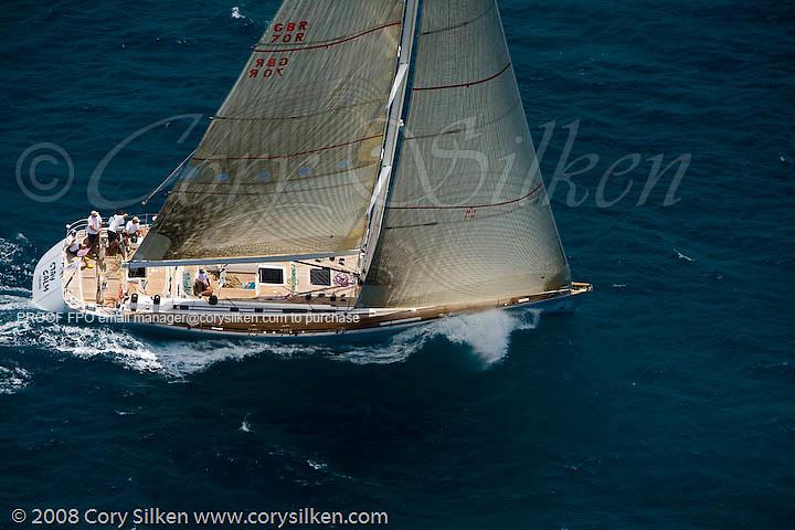 Stay Calm sailing race 2 at Antigua Sailing Week.