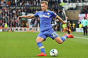 Leeds United defender Charlie Taylor (21) crosses the ball in to the box during the EFL Sky Bet Championship match between Derby County and Leeds United at the iPro Stadium, Derby, England on 15 October 2016. Photo by Aaron  Lupton.