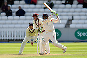Haseeb Hameed of Lancashire plays an atacking shot during the Specsavers County Champ Div 1 match between Somerset County Cricket Club and Lancashire County Cricket Club at the Cooper Associates County Ground, Taunton, United Kingdom on 14 September 2017. Photo by Graham Hunt.