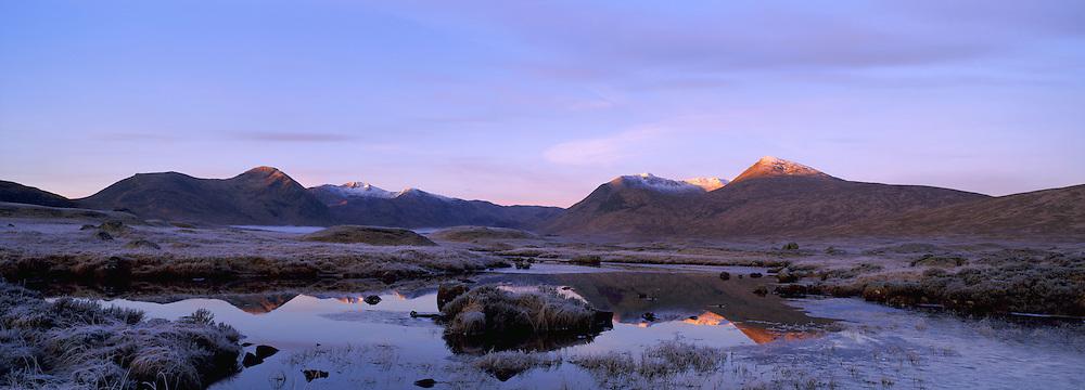Rannoch Mor winter dawn