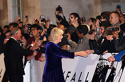 The Duchess of Cornwall (R), and the Prince of Wales (L) arrives for the World Premiere of the latest James Bond film  'Skyfall', Royal Albert Hall, London, October 23, 2012. Photo by Max Nash / i-Images.
