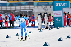 KOLYADIN Alexandr KAZ LW4 competing in the ParaSkiDeFond, Para Nordic Skiing, 20km at  the PyeongChang2018 Winter Paralympic Games, South Korea.
