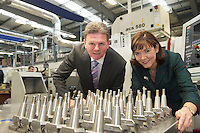 Brendan McDermott, Regional Director Midlands and West, Ulster Bank   and Caroline Miney Ulster bank  at Caragh precision last years winners.  Photo:Andrew Downes XPOSURE