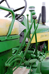 04 May 2013:   Arranged to coincide and be a part of the Red Corridor Route 66 festival, the village of Lexington hosts an antique tractor show.  Roger Whaley is the chairman of the organizing committee.  1959 John Deere model 730.