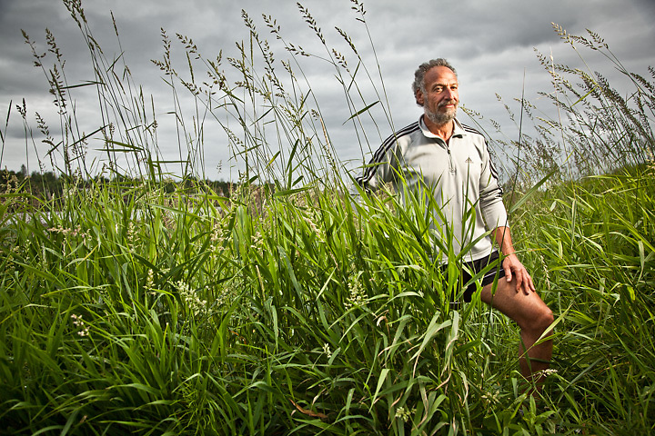 7.23.2012  Custom home contractor, avid runner and 40 year friend, Allen Rosenthal, Westchester Lagoon, Anchorage