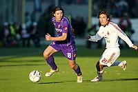 Firenze 20-11-2005<br />Campionato  Serie A Tim 2005-2006<br />Fiorentina Milan<br />nella  foto Montolivo Fiorentina (L), Andrea Pirlo Milan (R)<br />Foto Snapshot / Graffiti