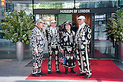 PEARLY QUEENS, The Galleries of Modern London launch party at the Museum of London on May 27, 2010 in London. <br /> -DO NOT ARCHIVE-© Copyright Photograph by Dafydd Jones. 248 Clapham Rd. London SW9 0PZ. Tel 0207 820 0771. www.dafjones.com.