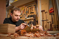 Furniture designer and master craftsman Anton Gerner at work in his studio
