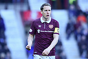Christophe Berra during the William Hill Scottish Cup 4th round match between Heart of Midlothian and Hibernian at Tynecastle Stadium, Gorgie, Scotland on 21 January 2018. Photo by Kevin Murray.