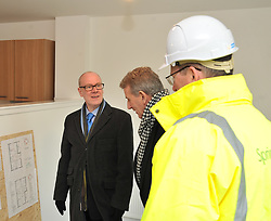 Housing Minister Kevin Stewart visits a major affordable housing development in Muirhouse, Edinburgh to coincide with the release of the latest quarterly housing statistics.<br /> <br /> &copy; Dave Johnston/ EEm