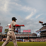 NEW YORK, NEW YORK - July 07: Bryce Harper #34 of the Washington Nationals preparing to bat during the Washington Nationals Vs New York Mets regular season MLB game at Citi Field on July 07, 2016 in New York City. (Photo by Tim Clayton/Corbis via Getty Images)