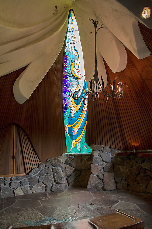 Sea Ranch Chapel by James Hubbell, near Gualala, California.