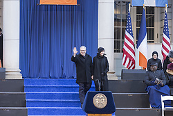 January 1, 2018 - New York, New York, United States - City Comptroller Scott Stringer and wife arrive forcomptroller inauguration for 2nd term in frigid weather in front of City Hall (Credit Image: © Lev Radin/Pacific Press via ZUMA Wire)