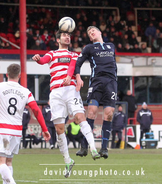 Hamilton&rsquo;s Jesus Garc&iacute;a Tena and Dundee's Jim McAlister -  Dundee v Hamilton Academical, SPFL Premiership at Dens Park <br /> <br /> <br />  - &copy; David Young - www.davidyoungphoto.co.uk - email: davidyoungphoto@gmail.com
