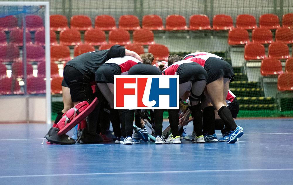 BERLIN - Indoor Hockey World Cup<br /> Poland - Kazachstan<br /> foto:line up<br /> WORLDSPORTPICS COPYRIGHT FRANK UIJLENBROEK