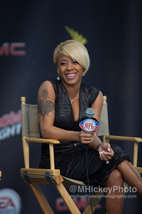 Keyshia Cole seen at the 2007 NFL Kickoff Concert press conference in Indianapolis, Indiana on September 5, 2007. Photo by Michael Hickey