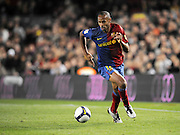 Thierry Henry (Barcelona) in action during the 6-0 win. Barcelona v Malaga (6-0) La Liga 22/03/09.